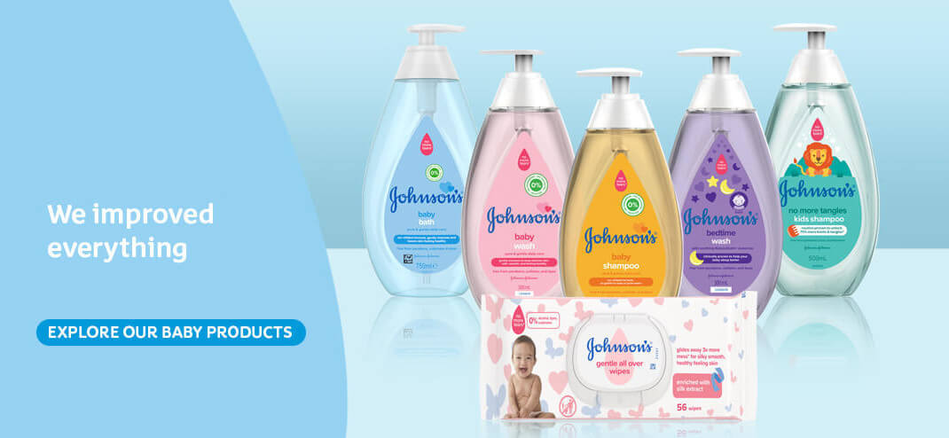 new & improved Johnson's® baby products