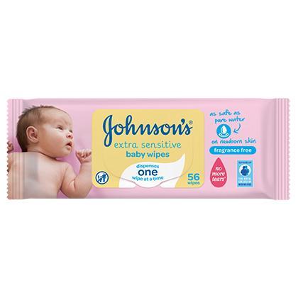 Extra Sensitive Baby Wipes  - JOHNSON'S® BABY