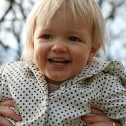 girl smiling park