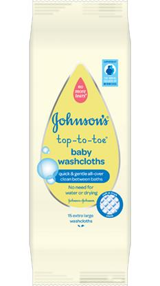 JOHNSON'S® TOP-TO-TOE® Baby Washcloths