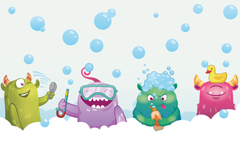 Bath Time Bubble Monsters  - JOHNSON'S® BABY